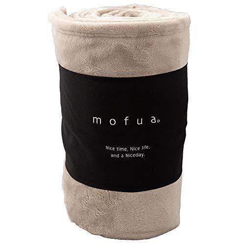 ナイスデイ 毛布 グレージュ ダブル (180×200cm) mofua モフア あったか 静電気防止対策 洗える 500003N8