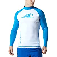 TSLA Men's UPF 50+ Long Sleeve Rash Guard, UV/Sun Protection Quick Dry Swim Shirts