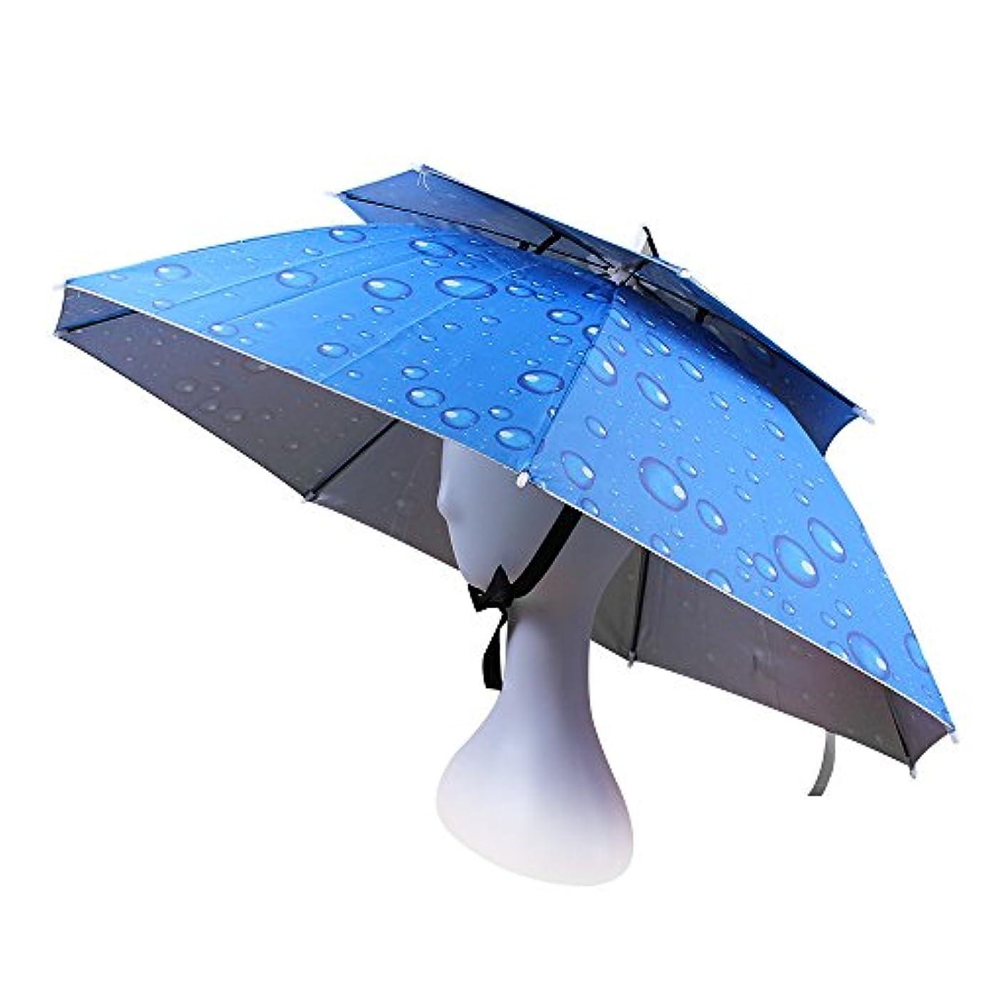 冷酷なかなりのトランスペアレントJANGANNSA 釣り用傘 帽子 折りたたみ式 日よけ帽 調節可能 アウトドア用ヘッドウェア