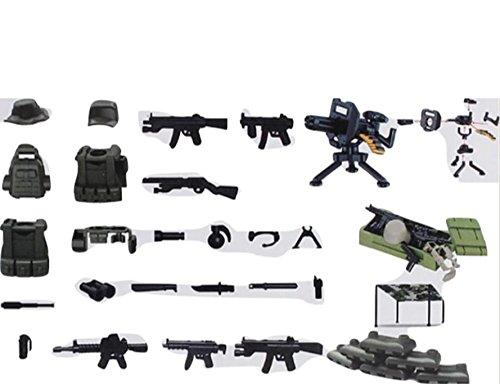 vegonia(ベゴニア) ミニタリー アメリカ軍 サバイバル 火力支援組 砲火支援組 狙撃組 指揮部 7体 武器 大容量 ブロック