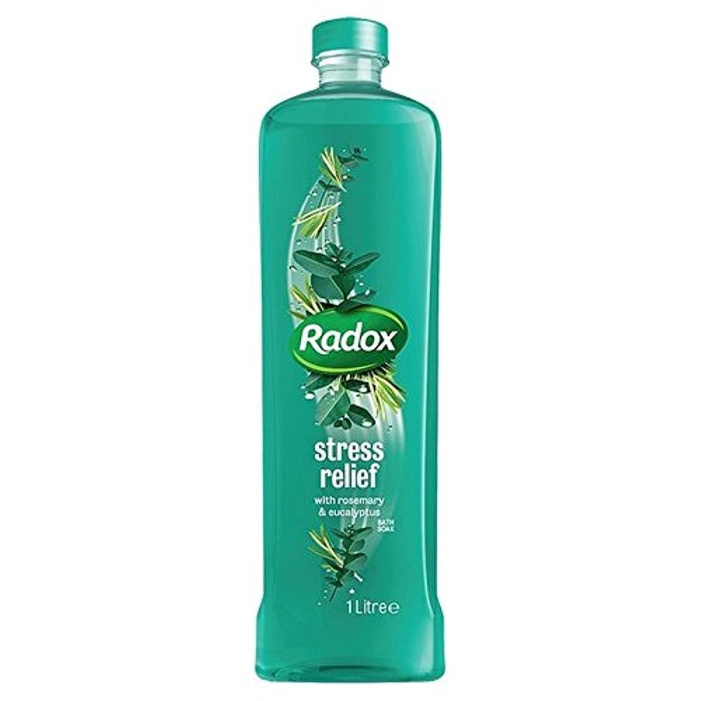 いらいらさせるの量導出は、1リットルのソーク良い香りストレスリリーフ風呂を感じます x4 - Radox Feel Good Fragrance Stress Relief Bath Soak 1L (Pack of 4) [並行輸入品]