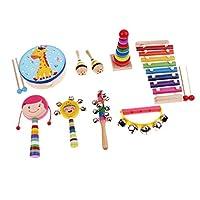 Perfk 全6種類 音楽玩具 ベビー玩具 音楽楽器玩具 知育玩具 子供玩具    - 9個-1