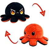 The Original Reversible Octopus Plushie | TeeTurtle's Patented Design | Fire Eyes | Show Your Mood Without Saying a Word