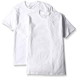 (チャンピオン)Champion Tシャツ リングスパン クルーネック 2枚組 CM1EH701 010 ホワイト LL