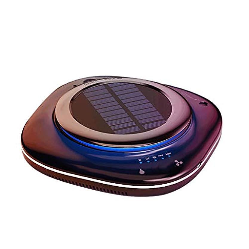 リスキーな虚弱一時的QLJJSD 車の空気清浄機のソーラーワイヤレスは、車をなくし臭、ホルムアルデヒド、ヘイズ、アロマ加湿器、インテリジェントな検出、自動調整、レベル4のフィルターを充電します 活性炭エアフィルター (Color : Black)