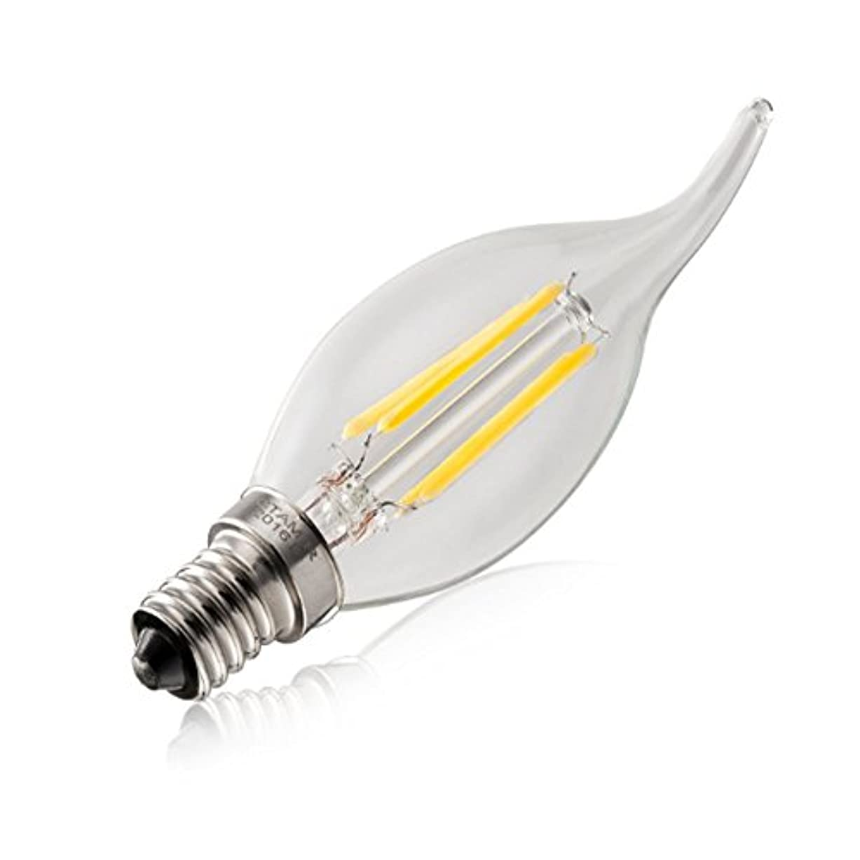 狐ハイキングに行く舗装hostweigh E14 4W COB LED調光可能フィラメントキャンドルライト 40W白熱電球相当品2700K 420LM シャンデリアCandelabraプルテール エジソンアンティークビンテージスタイルの省エネルギー
