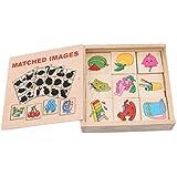 JIOLK 記憶玩具 子供 影 ペアリング メモリマッチング ゲーム 視覚 大脳 言語 集中力 活性化 脳トレ ゲーム 玩具 知能開発 幼児 赤ちゃん 教育玩具