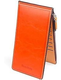 薄型 二つ折り 長財布 カード ケース カード17枚 収納 大容量 財布 PUレザー ウォレット 小銭入れ 男女兼用