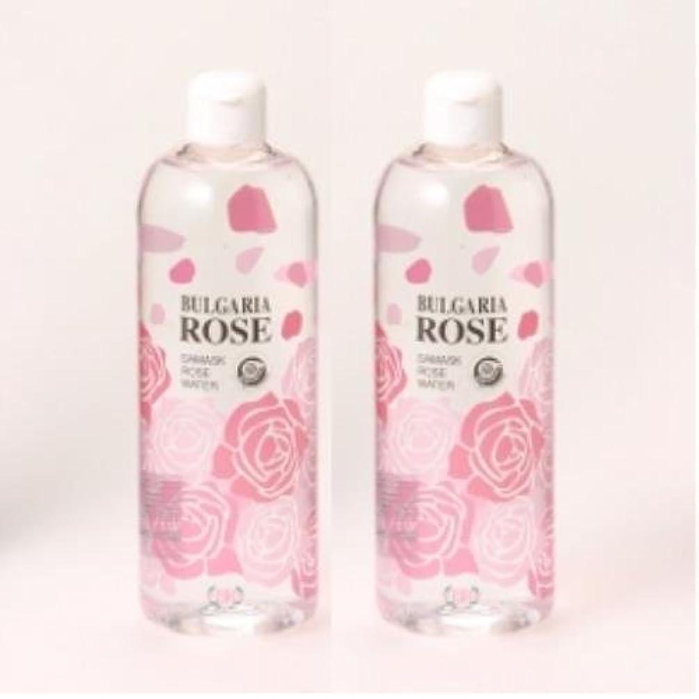 [100%天然のバラ水] ダマスクローズウォーター 500ml 2個セット 【お肌がうるおう】