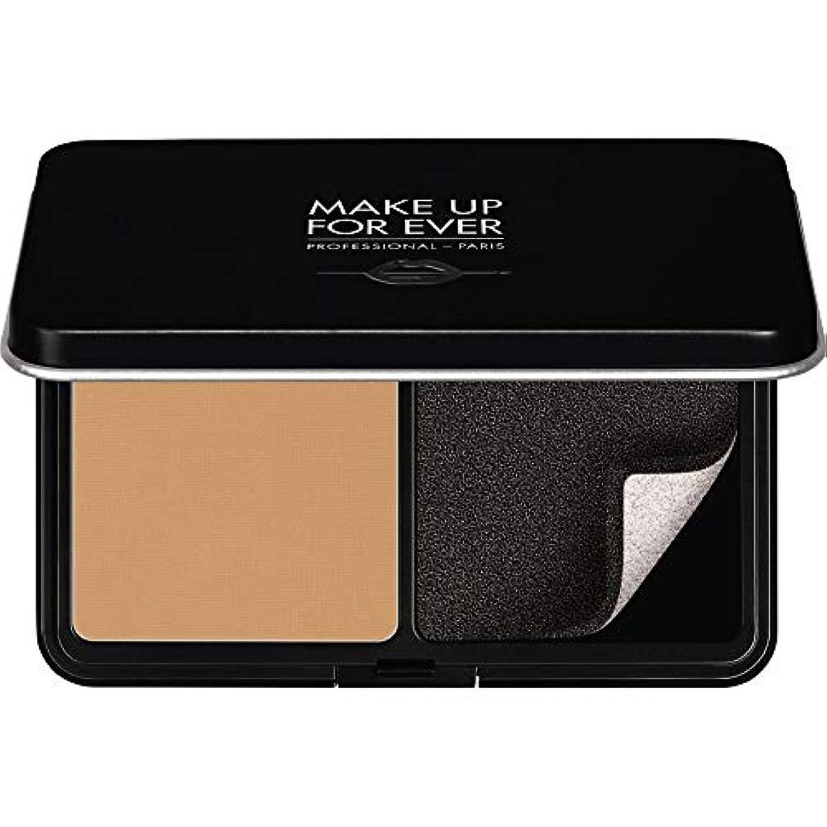 バルコニー政治的在庫[MAKE UP FOR EVER ] 黄金の砂 - パウダーファンデーション11GののY375をぼかし、これまでマットベルベットの肌を補います - MAKE UP FOR EVER Matte Velvet Skin Blurring Powder Foundation 11g Y375 - Golden Sand [並行輸入品]