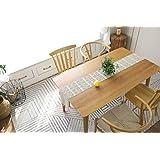 Wengon テーブルランナー 白 ホロウ タッセル 撥水 耐熱汚れ防止手入れ簡単 防油 防塵 高温耐性
