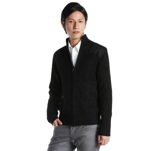 (ヒューストン)HOUSTON COMMAND ZIP セーター 2510 BLACK ブラック XL