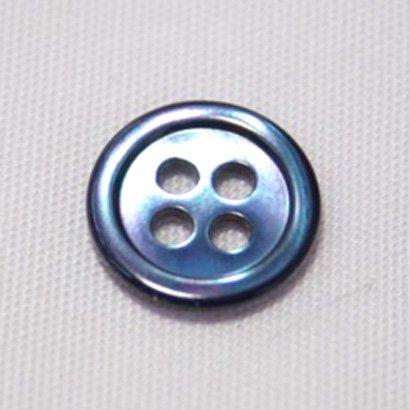 17型高瀬貝ボタン染色ブルー 10mm 50個セット シャツ...