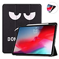 柄物 2018 iPad Pro 新型 11インチ ケース Apple Pencil ペアリング 充電対応 アップル ペンシル 収納用 ペンホルダー付き アイパッド 11インチ プロ カバー ペンシルケース ペン充電 オートスリープ機能付き マグネット式 お洒落 (iPadPro11, タイプJ)