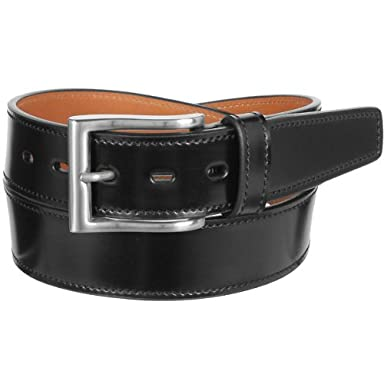 Layered Flat Cordovan Belt KTB-159: Black