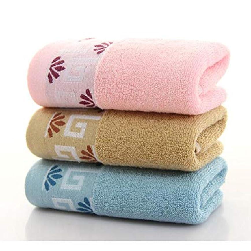 単に見て銛CXUNKK 2PCS / LOT家庭用綿肥厚ソフトタオル (Color : Random Color)