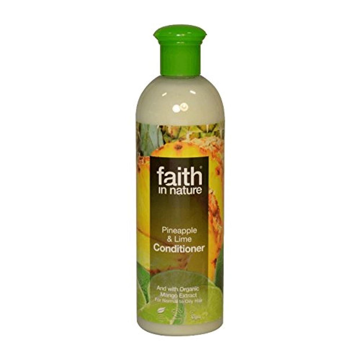 章動作学校教育Faith in Nature Pineapple & Lime Conditioner 400ml (Pack of 6) - 自然パイナップル&ライムコンディショナー400ミリリットルの信仰 (x6) [並行輸入品]