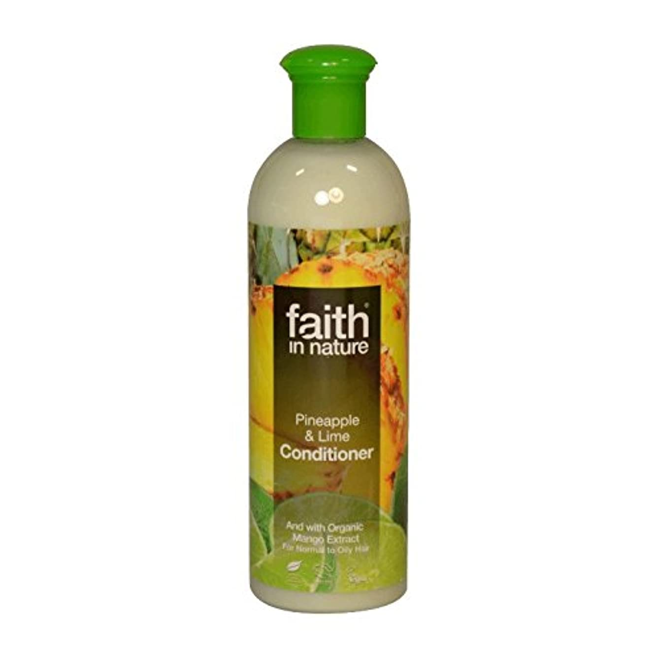 フランクワースリー協力する寛大さFaith in Nature Pineapple & Lime Conditioner 400ml (Pack of 6) - 自然パイナップル&ライムコンディショナー400ミリリットルの信仰 (x6) [並行輸入品]