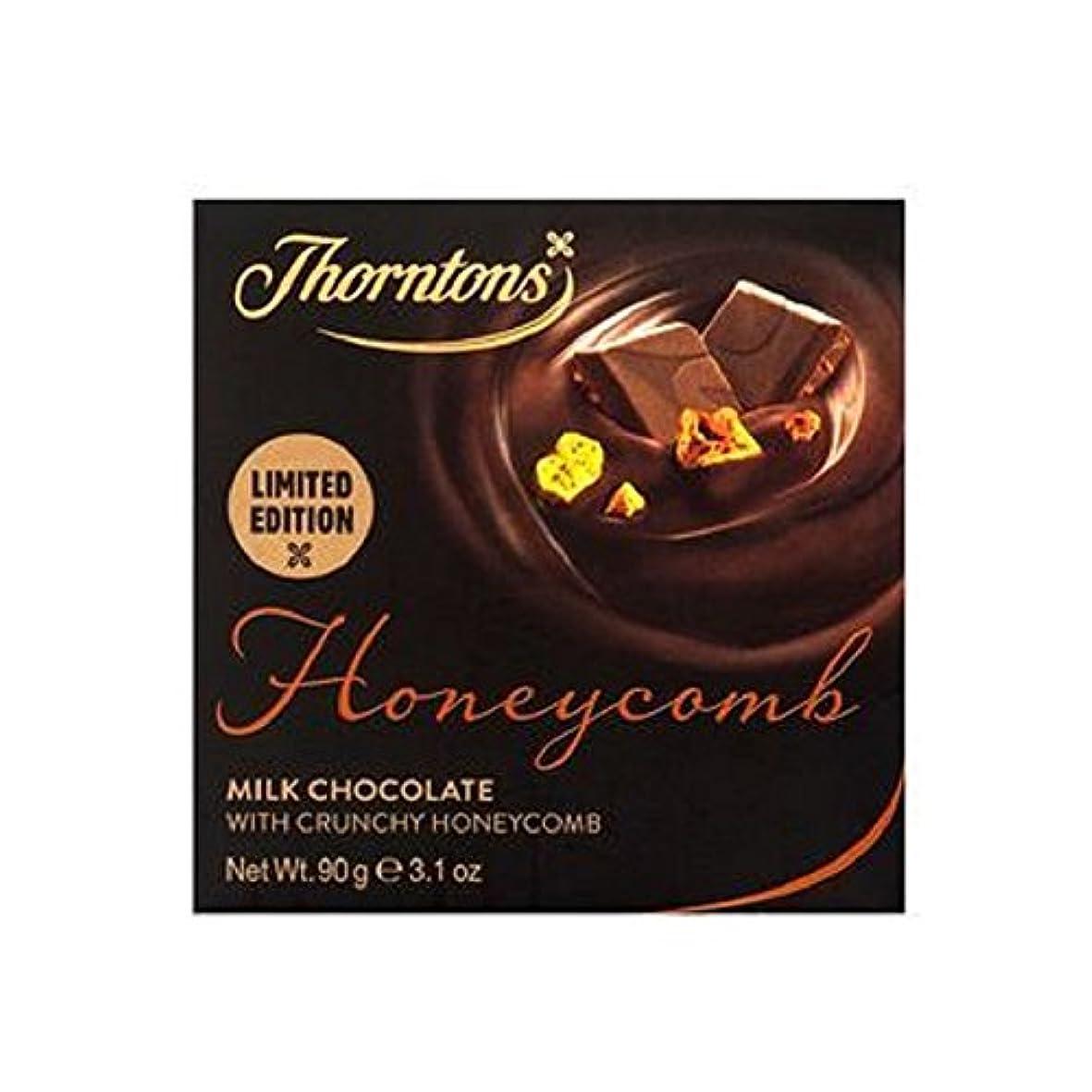 換気ロマンス溶けるソーントンズハニカムミルクチョコレートブロック(90グラム) - Thorntons Honeycomb Milk Chocolate Block (90g) (Thorntons) [並行輸入品]