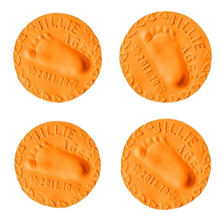 フォージシャイニング繁栄するSM SunniMix 出産祝い 百日記念 粘土 赤ん坊 手形 足跡 押印 鋳造 指紋 粘土 フレーム記念品 4個入り