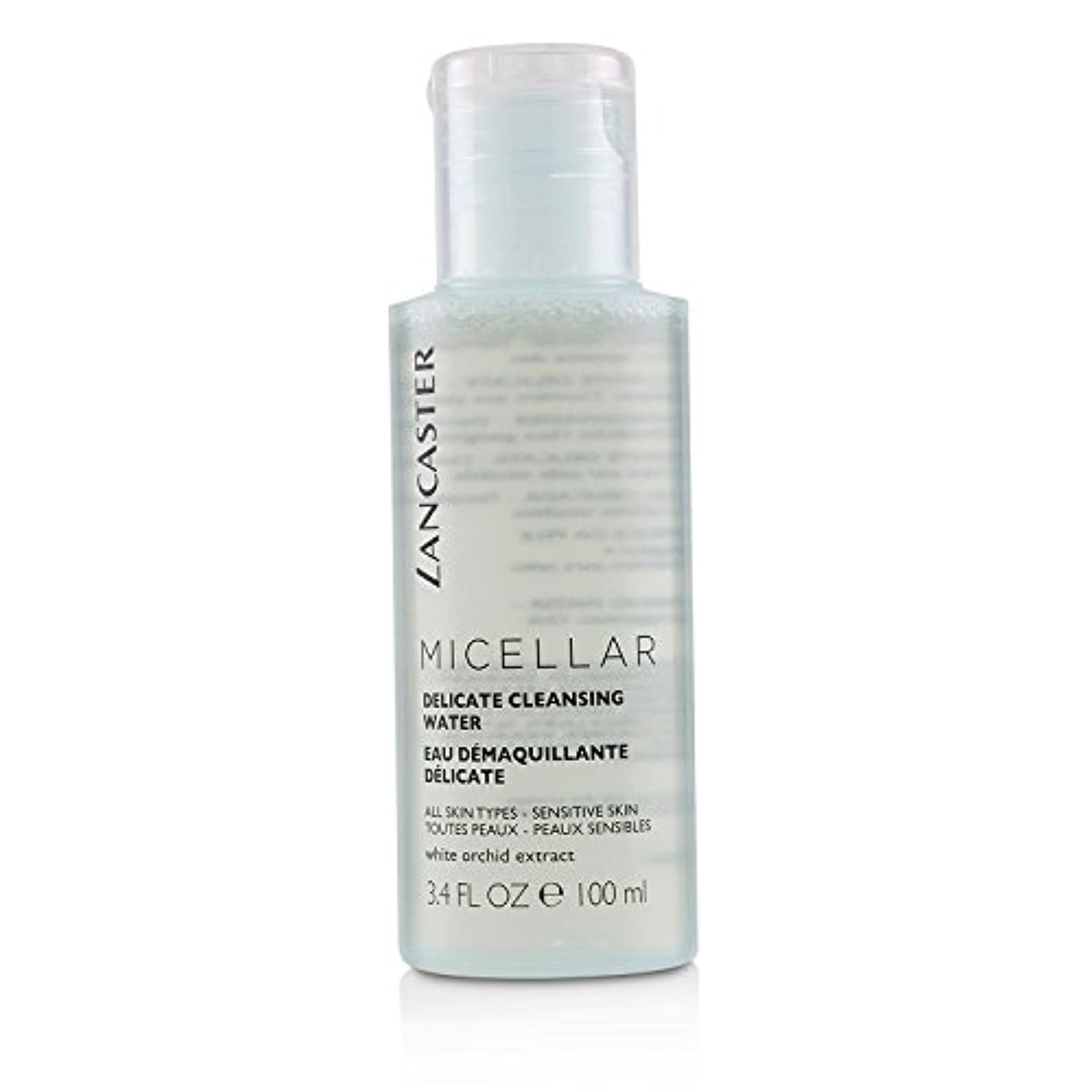 治す開示する光沢のあるランカスター Micellar Delicate Cleansing Water - All Skin Types, Including Sensitive Skin 100ml/3.4oz並行輸入品