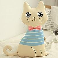 可愛い ねこ 白猫 オレンジ色の猫 毛糸の人形 おもちゃ まくら 誕生日 プレゼント 48CM A