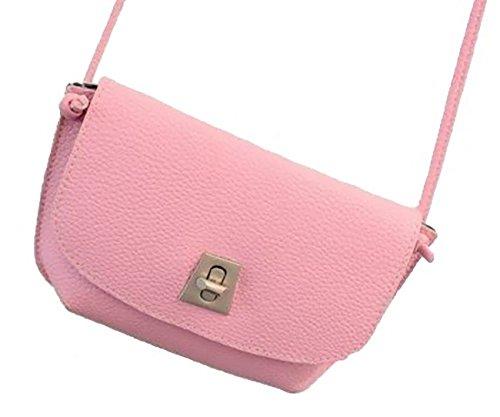 SEIWA ポシェット ミニ ショルダーバッグ 肩掛け 鞄 巾21cm お洒落な 4色 バッグ (ピンク)