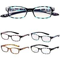 首に掛けられる老眼鏡 NEW Hold Neck 802 ホールドネック ブルーライトカット35% プレゼントパッケージ ユニセックス 眼鏡ケース 緩み調整ドライバー付き[PrePiar](ブルー・+1.0)