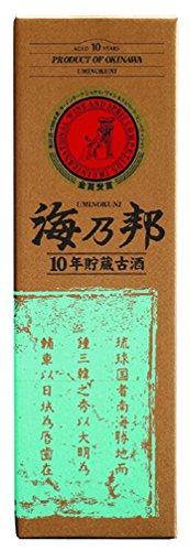 沖縄県酒造協同組合『海乃邦10年貯蔵古酒43度』
