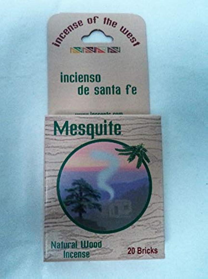 じゃないけがをするガラガラInciensio Sante Fe:-メスキートインセンスブロック 20個