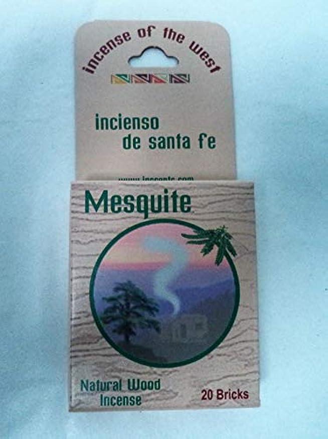 サミュエル奨励します不利益Inciensio Sante Fe:-メスキートインセンスブロック 20個