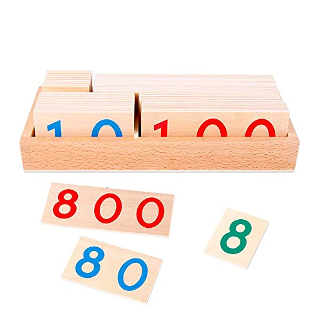 意気揚々指定滴下FLORMOON木製シェイプブロック番号カードモンテッソーリ初期教育玩具科学プロジェクト木製ブロック幼児用キッズボーイズガールズ年齢3+歳