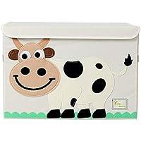 折り畳み式の漫画のおもちゃの収納ボックス、蓋付き布収納バスケット52 * 35 * 35cm (色 : C)