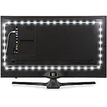 Luminoodle Bias Lighting TV Backlight Strip - 6000K USB Powered LED Ambient Light to Reduce Eye Strain (XX-Large (16.4 ft), White)