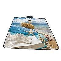 折りたたみピクニックマットオックスフォード布屋外ビーチマットピクニックマット防水サンドキャンプキャンプハンドル毛布 (Size : 148*200cm)