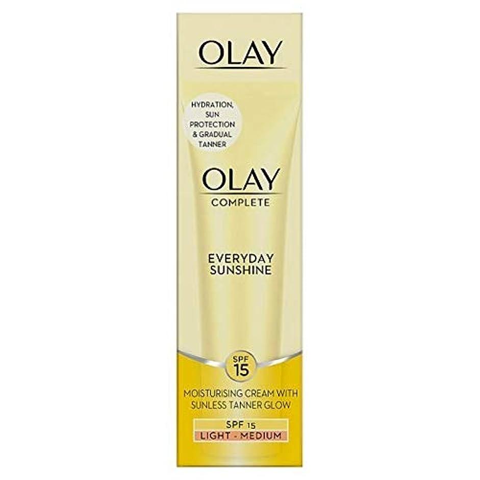 壊滅的なビタミン属性[Olay ] 日常の光太陽の光クリーム(サンレスタンニング)50ミリリットルを完了 - Complete Everyday Light Sunshine Cream (Sunless Tanner) 50ml [並行輸入品]