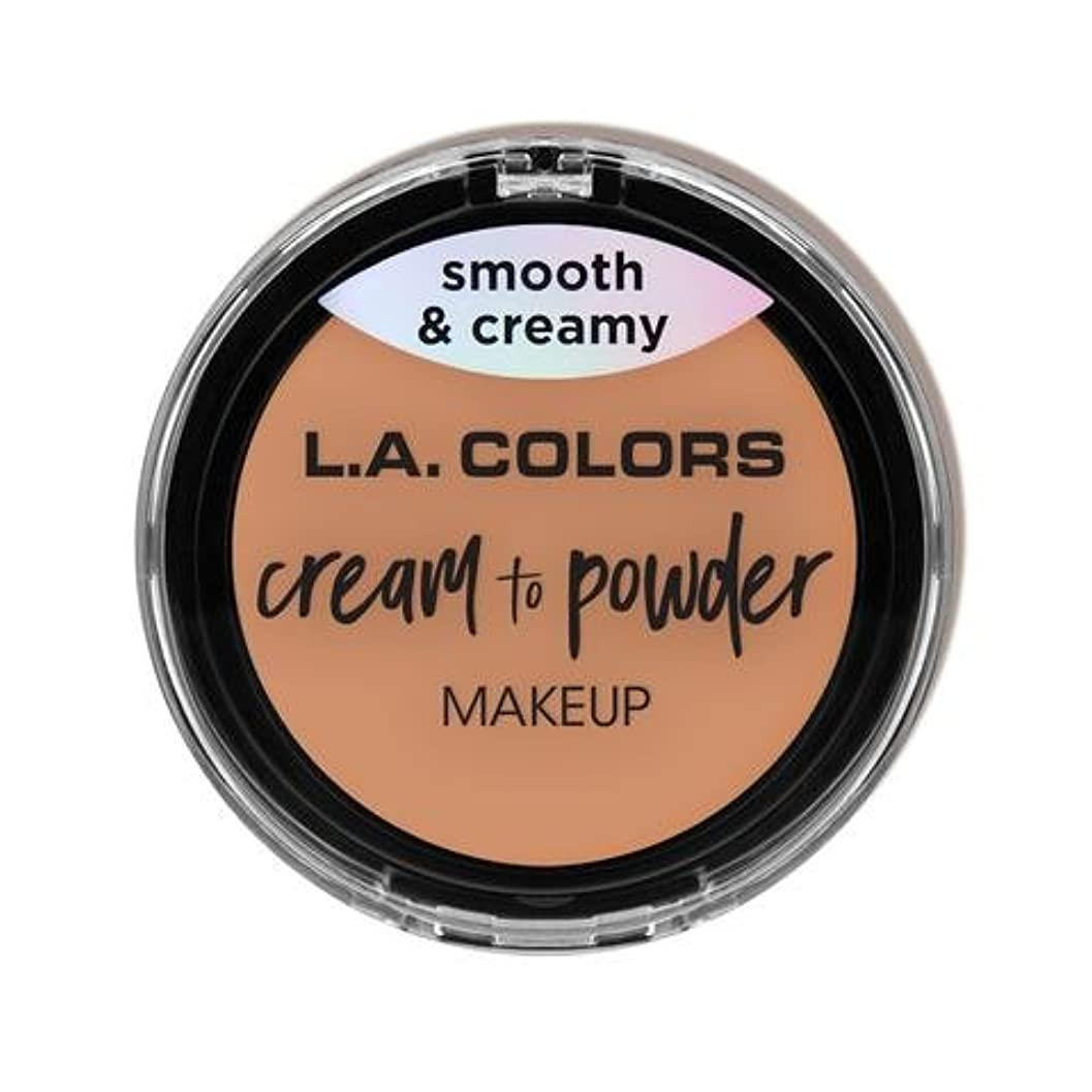 悪党隣接ルネッサンス(3 Pack) L.A. COLORS Cream To Powder Foundation - Shell (並行輸入品)