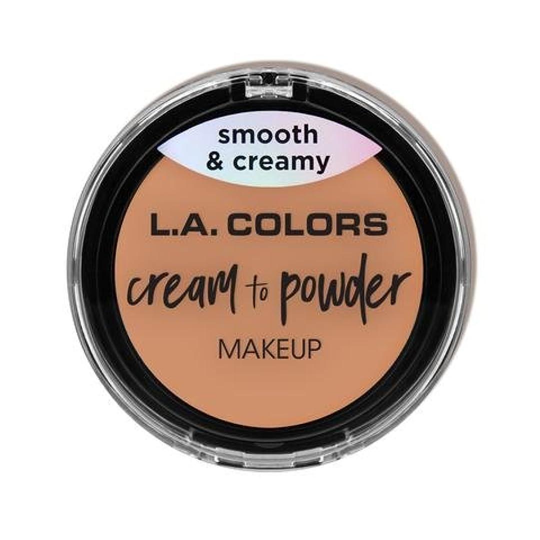 漏斗実り多い編集者(3 Pack) L.A. COLORS Cream To Powder Foundation - Shell (並行輸入品)