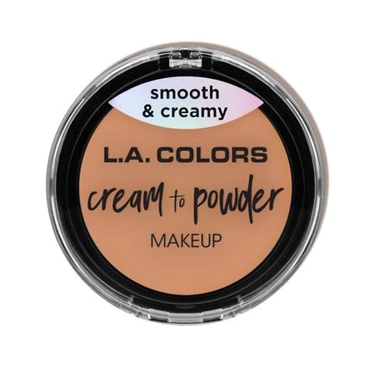 十一病者怖がって死ぬ(3 Pack) L.A. COLORS Cream To Powder Foundation - Shell (並行輸入品)