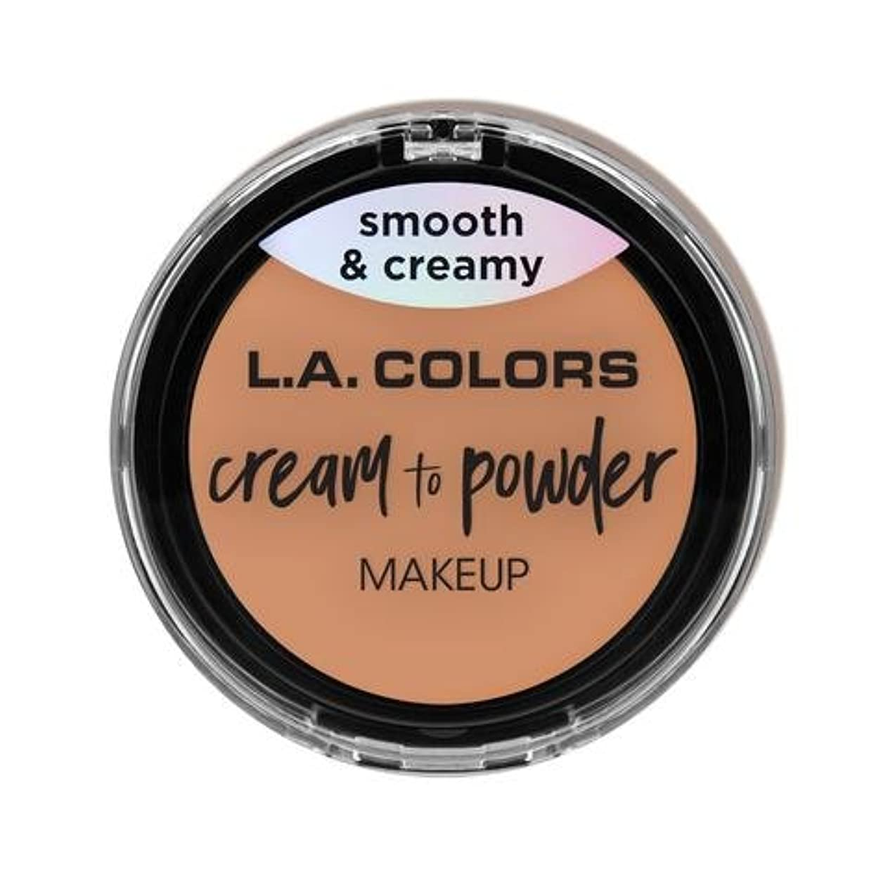 枠不器用若者(3 Pack) L.A. COLORS Cream To Powder Foundation - Shell (並行輸入品)