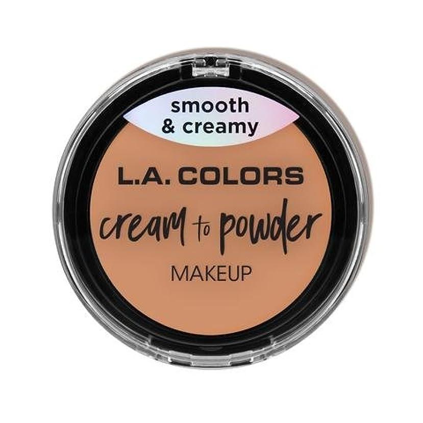 弾力性のある前進博覧会(3 Pack) L.A. COLORS Cream To Powder Foundation - Shell (並行輸入品)