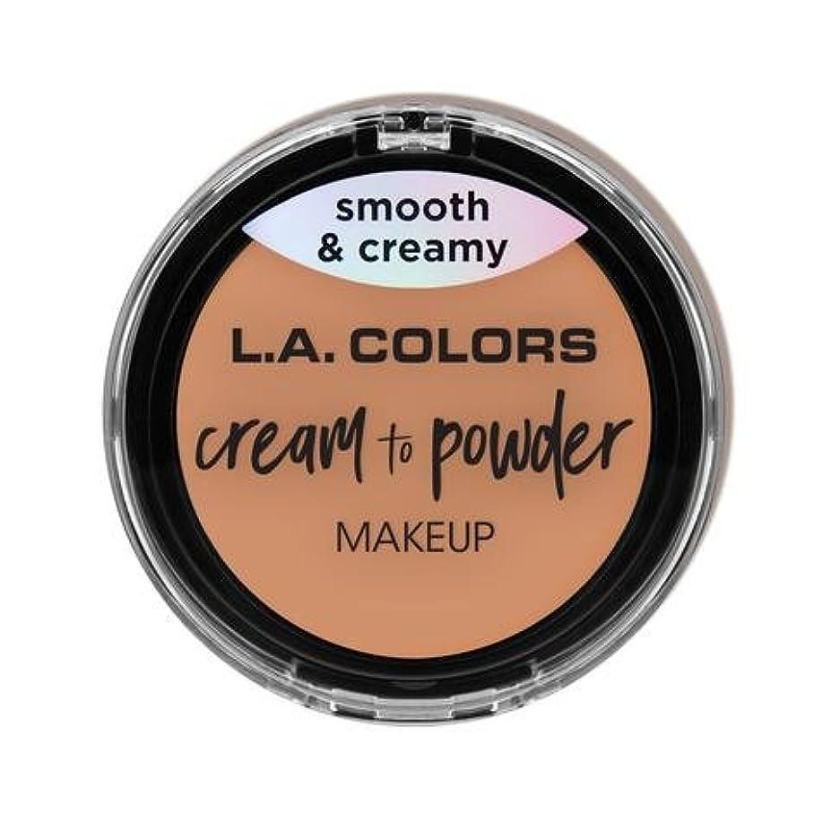 気分画家フィードバック(3 Pack) L.A. COLORS Cream To Powder Foundation - Shell (並行輸入品)