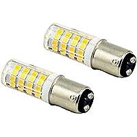 LED BA15d トウモロコシ型 ブレーキランプ 航海灯 4W 350lm 110V ピン角360° 昼白色6000-6500K 2個入り  (昼白色)