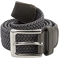 Canvas Elastic Fabric Woven Stretch Braided Belts Solid Color