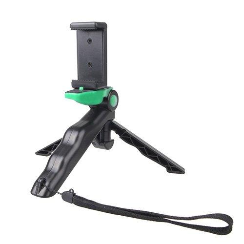 Yan GoPro HERO 4 / 3 / 3 / SJ4000 / SJ5000 / SJ6000 Sports DV/Digital Camera/iPhone, Galaxyおよびその他の携帯電話用ストレートクリップ付きポータブルハンドグリップ/ミニ三脚スタンドスタディカムスタンド (Color : Green)