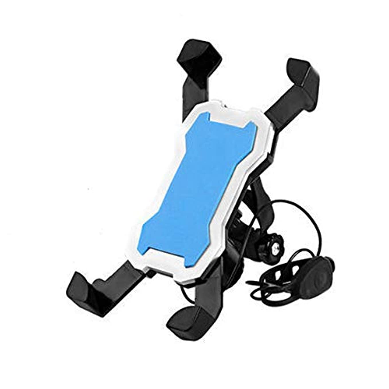 控えるシャンパン無線OnKJ自転車 スマホ ホルダー 携帯電話ホルダー バイク スピーカー付き360度回転 脱着簡単 脱落防止 角度調整 強力な保護