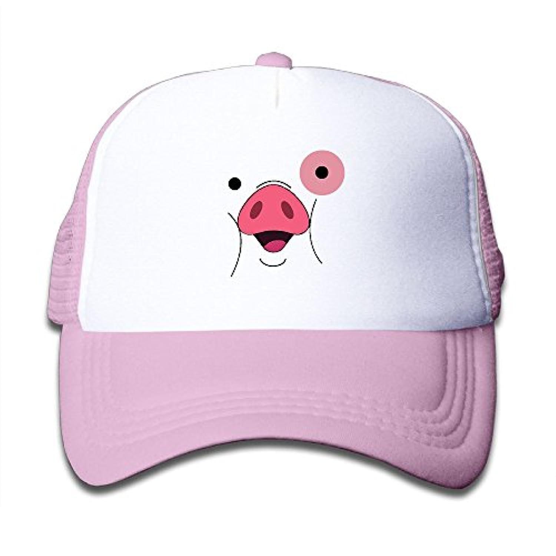 大きな豚 素敵 かわいい おもしろい ファッション 派手 メッシュキャップ 子ども ハット 耐久性 帽子 通学 スポーツ