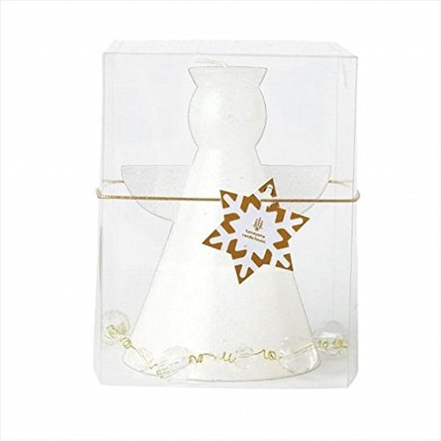 我慢する後ろに飲料kameyama candle(カメヤマキャンドル) クリスタルアンジェリカ 「 ホワイト 」(A9580000W)