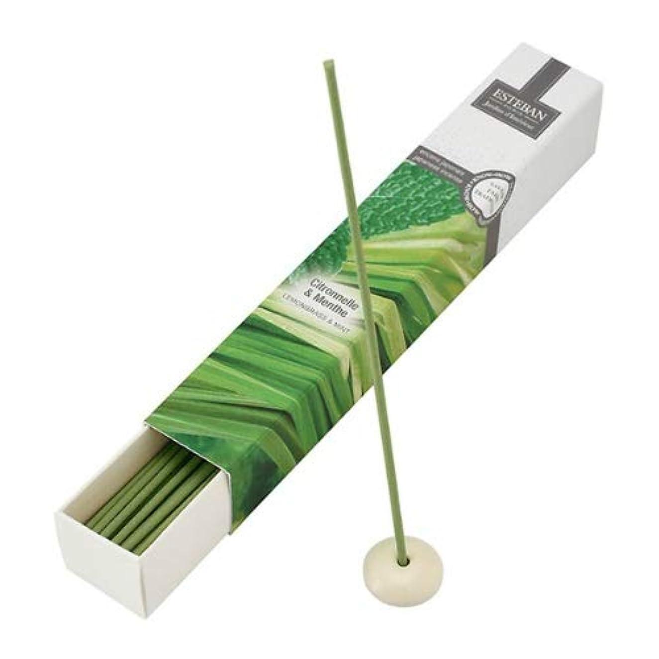 抑止する可決配列ESTEBAN Jardins d'Interieur(インテリアガーデン) LEMONGRASS&MINT(レモングラス&ミント) スティック40本(お香)