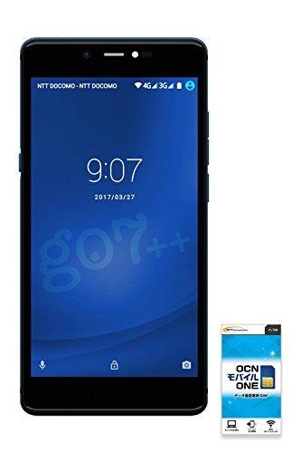 gooのスマホ g07++(グーマルナナプラプラ) 【OCNモバイルONE SIMカード付】 (データSIM, シャイニングブ...